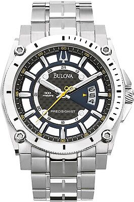 Bulova Men's Precisionist 96B131 Black Stainless-Steel Quartz Watch