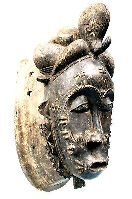 Art African Tribal - Imposing Mask Carry Baoulé - Baule Mask - 45 Cm