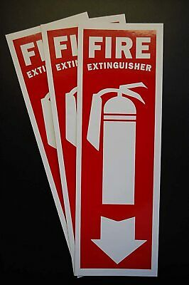 3 Pack Fire Extinguisher Vinyl Sticker Decal 12 X 4 Self Adhesive X3ps46