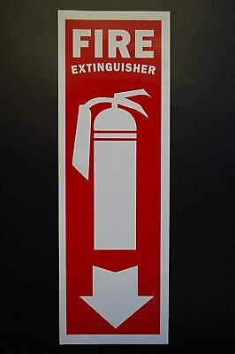 Fire Extinguisher Vinyl Sticker Decal 12 X 4 Self Adhesive Safety Ps46