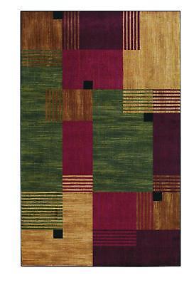 NEW Mohawk Home New Wave Alliance Printed Rug, 8'x10', Burgu