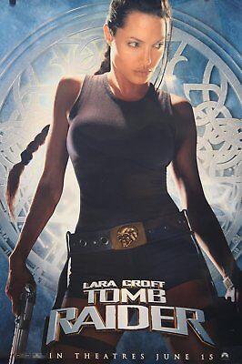 Lara Croft Tomb Raider   Angelina Jolie   June 15 Movie Poster 27 X 40