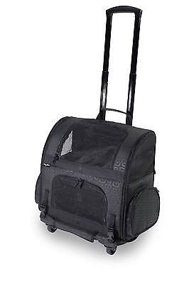 Dog Carrier Rolling Carrier Backpack on Wheels Dogs to 10 LBS AIRLINE APPROVED
