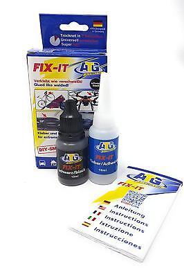 ATG Fix-It, 2-Komponenten Superkleber, Flüssige Schweißnaht & Haftpulver Schwarz