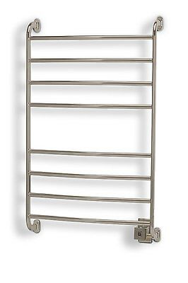 شماعة حمام جديد Electric Heated Towel Rail Bathroom Warmer Rack Wall Mounted Radiator Nickel