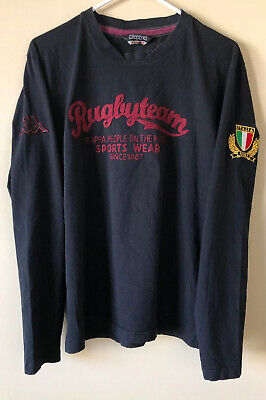 Kappa Vintage Italy Rugby Team Stitched Long Sleeve Shirt XL