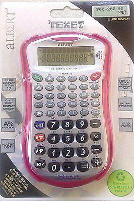 TEXET ALBERT 3 SCIENTIFIC PINK GCSE A/AS LEVEL STANDARD HIGHER GRADE CALCULATOR