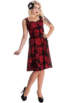 Hell Bunny Bloody Rose Vampire Endless Night Side Corset Tie Dress  - Bloody Rose