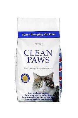 Pettex Clean Paws Super Clumping Ultra Cat Litter 15kg - Stops Unpleasant Odours
