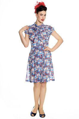 HELL BUNNY Kullen Nautical Sailor Dress ~ Pinup Retro WW2 Vintage Plus Size 40s