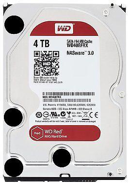 Western Digital Red  4TB Intellipower SATA 6Gb/s 64 MB Cache Desktop Hard Drive