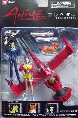 NEW Bandai COWBOY BEBOP SWORDFISH SPIKE FAYE Anime Collection Figure Set