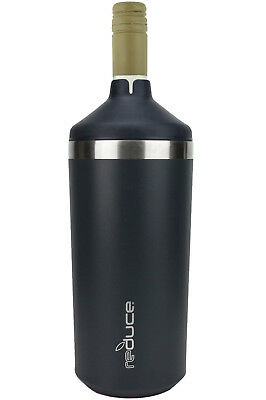 reduce Vacuum Insulated Wine Cooler – BPA Free, Fits Most 750mL Bottles (Black)