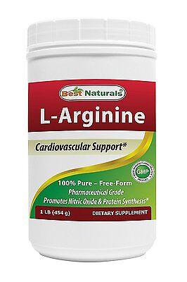 Best Naturals L Arginine Free Form Pharmaceutical Grade 1Lb Powder Muscle Cardio