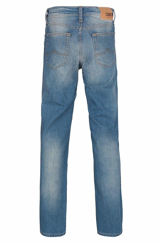 Mustang Herren Oklahoma (Tramper) Straight Leg Jeans / Blau / stone washed
