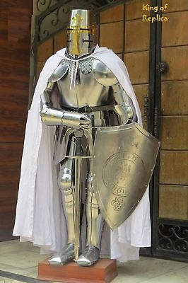 Knights Armor Costume (Medieval Wearable Knight Crusador Full Suit of Armour Collectibles Armor)