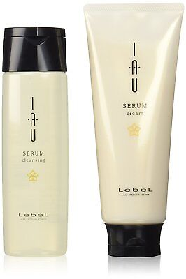 LebeL IAU Serum Cleansing Shampoo 200ml and Serum Cream Treatment 200ml set F/S