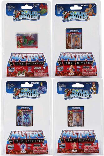 Worlds Smallest Masters of The Universe - 4 Pack Bundle Set HE-MAN SKELETOR