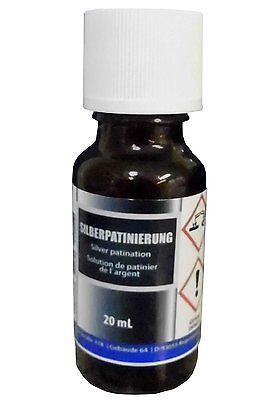 Silber-Patinierung (20 ml) - Alternative zu Schwefel-Leber, Pariser-Oxyd