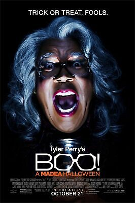 """BOO! MADEA HALLOWEEN - ORIGINAL MOVIE POSTER 27"""" by 40"""" DOUBLE SIDED - FREE SHIP"""