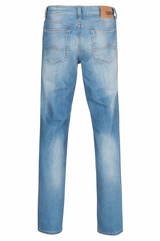 Mustang Herren Oklahoma (Tramper) Straight Jeans / Blau / stone washed
