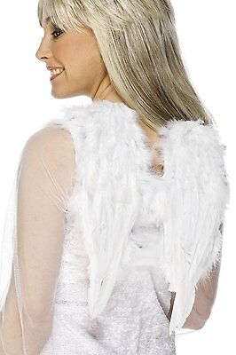 Real Feather Angel Wings White Costume Club Wing Small 16