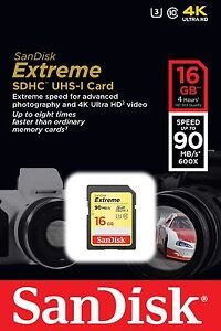 SanDisk-Extreme-16GB-UHS-1-U3-SDHC-SD-Class-10-90MB-S-Memory-Card-4K-Ultra-HD