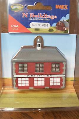 Imex Firehouse Resin Built-up N Scale Building