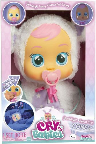 Cry Babies Goodnight Coney Sleepy Time Baby Doll Light Up, Toy, Gift. NEW!