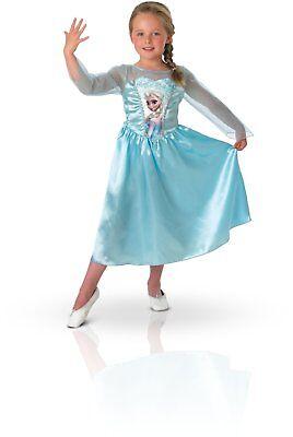 Costume ELSA FROZEN CARNEVALE vestito BAMBINA abito BIMBA 7 8 anni REGINA GHIACC
