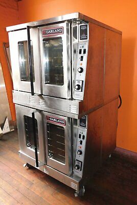 Garland Double Stack Full Size 460v Electric Convection Ovens
