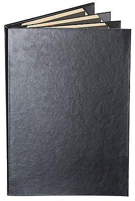 Menu Covers Black Casebound Quad Panel - 6-view - 8.5 X 11