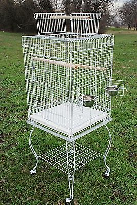 "NEW Large 58-Inch Parrot Bird Cage Top Play With Stand Wheel 20x20x57""H WTE 368"