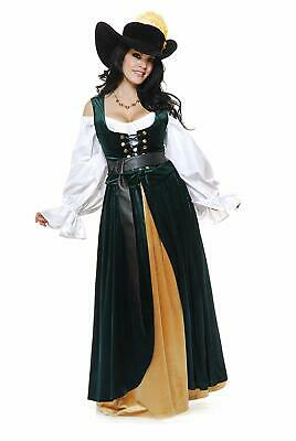 Country Wench Overskirt Renaissance Fancy Dress Up Halloween Costume Accessory