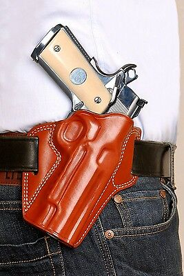 Leather Pancake Holste Fits 1911 Colt Kimber Sig Para Sringfield Ruger Remington
