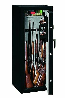 Stack-On 16-Gun Rifle Security Safe Biometric Fingerprint Lock, Steel SS-16-MB-B