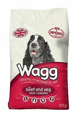 Wagg Dog Food Complete Beef and Veg Pet Adult Dog Dry Food 12kg Bag