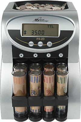 Electric Coin Sorter Counter Machine 2 Row Digital Total Display Royal Sovereign