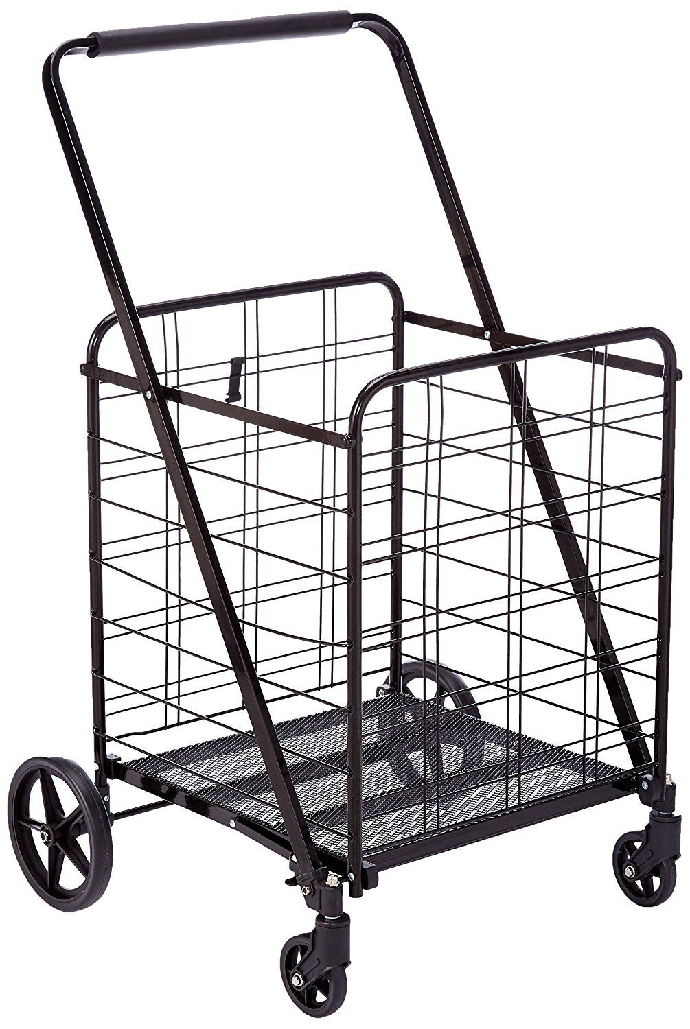 Heavy Duty 360 Degree Wheel Folding Super Jumbo Shopping Cart,Max 150  LB,Black | Shopping Bin - Search eBay faster