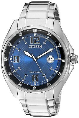 Citizen Eco-Drive Men's AW1510-54L Blue and Black Dial Silver-Tone 42mm Watch