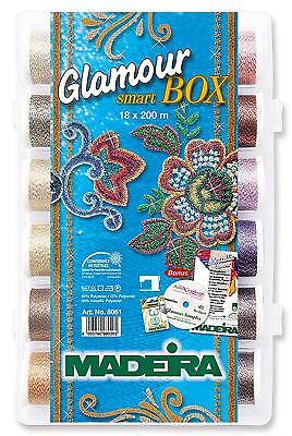 Madeira 98168061 SmartBox Glamour 12 18 Spool Set, 220 yd