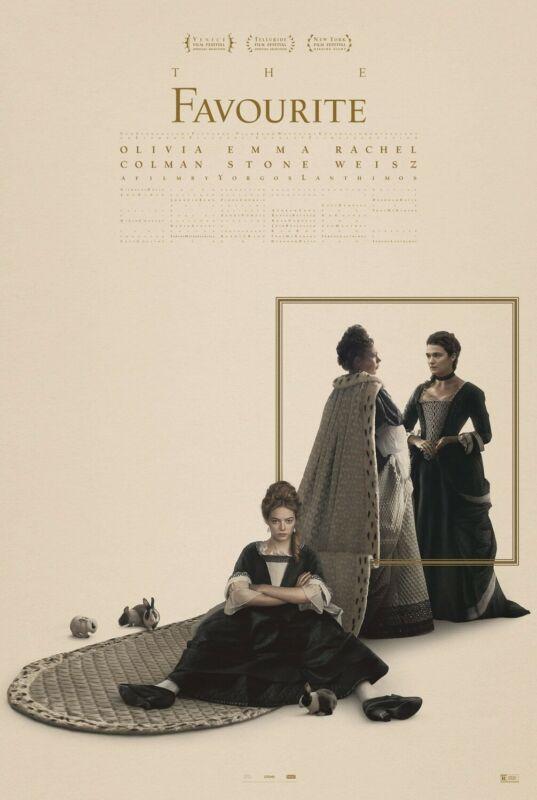The Favourite 13.5x20 Promo Movie POSTER Emma Stone Rachel Weisz