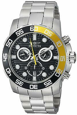 Invicta 21553 Pro Diver Men's 50mm Stainless Steel Chronograph Black Dial Watch