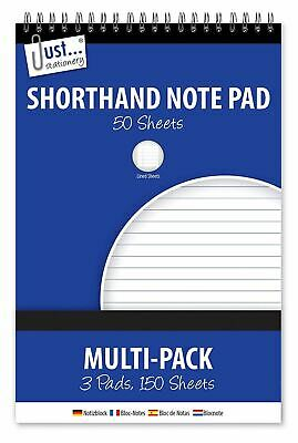 3x50 Sheet A5 Shorthand Pad Spiral Wirebound Note Book List Reporters Ruled