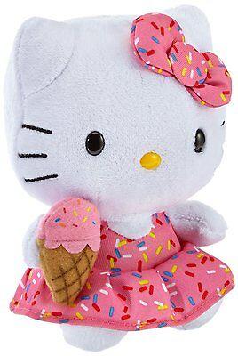 Baby Hello Kitty Kinder Eiscreme Kleid mit Eiswaffeltüte Beanie Babies Rosa NEU