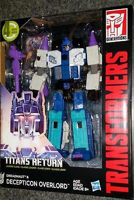 TRANSFORMERS Generations Titans Return OVERLORD Decepticon & Dreadnaut - NEW