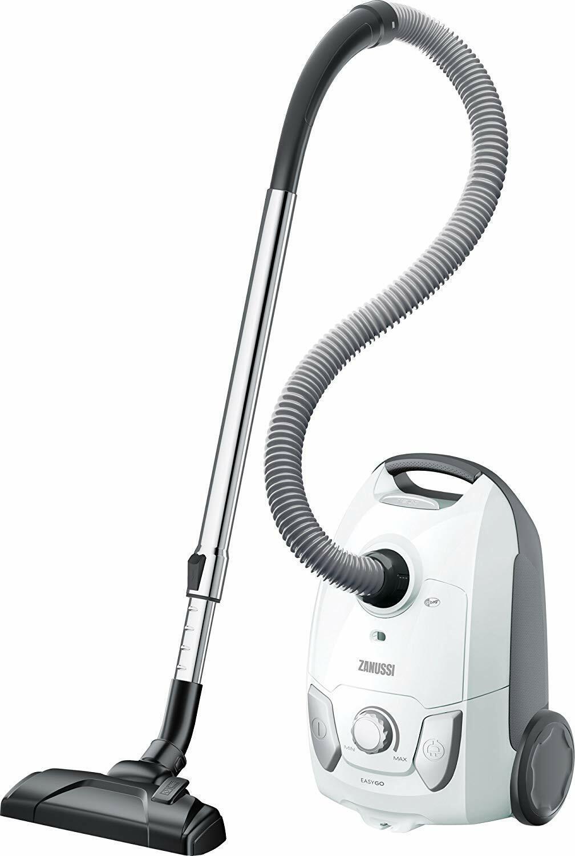 Zanussi ZAN4100IW Easy Go Bagged Cylinder Vacuum Cleaner, 750 W, 4L Capac, White
