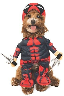 Deadpool Dog Pet Halloween Costume Funny Outfit Shirt with Attached Arms L - Halloween Costumes With Dog