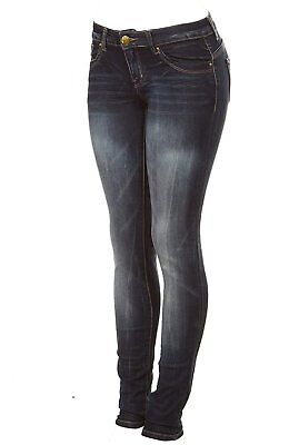 Cover Girl Women's Dark Wash Low Waist Skinny Jeans Junior or Plus Sizes on sale ()
