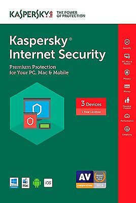 Kaspersky Internet Security 3 Devices 1 year 2017